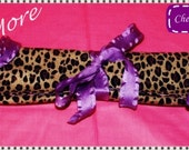 SATIN Cheetah Hair Extension Holder / Case / Storage - Design Your Own