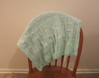 Teal Blue Baby Blanket