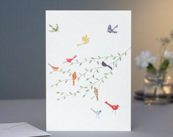 Birds on a Branch Card