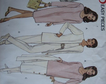 Vogue Pattern 1100 Misses' Jacket, Dress, Top, Skirt & Pants    1993    Uncut
