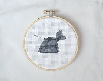 K-9 - Doctor Who Embroidery Hoop Art