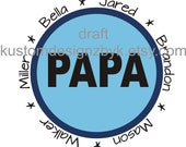 Grandpa Papa iron-on shirt decal NEW custom design
