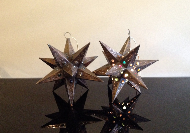 Metal Hanging Star Lights