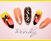 Stiletto Waikiki Sunset Nails