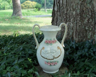 Urn Vase Cherubs Classic Victorian Motif Barely Vintage