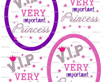 "DIY Printable ""VIP Very Important Princess"" Shrinkable Digital Images (JPEG File)"