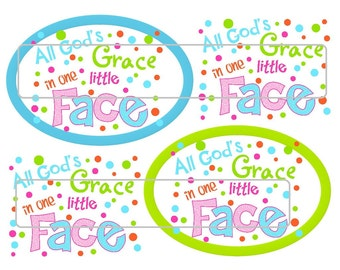 "DIY Printable ""All God's Grace in One Little Face"" Shrinkable Digital Images (JPEG File)"