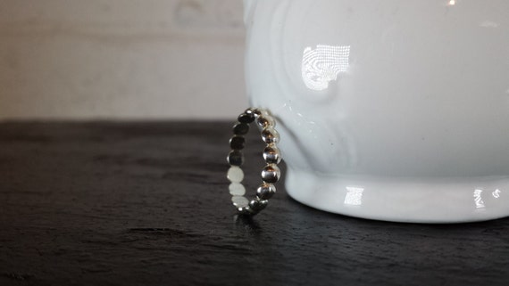 Sterling Silver Dot Ring - Half Bead Ring