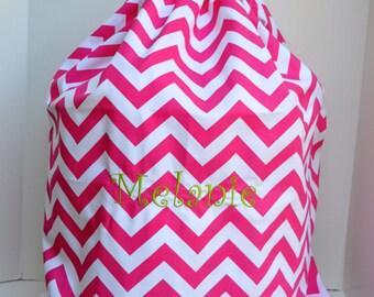 Large Pink Chevron  Laundry Bag Tote College Dorm Summer Camp Duffle Bag with Shoulder Strap Monogrammed