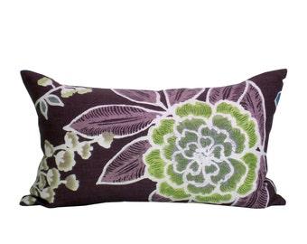 Sulu lumbar pillow cover in Plum