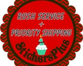 Rush Service and Priority Mail Service for Baby Month Stickers Milestone Age Photo Prop Stickers by Stickers Plus