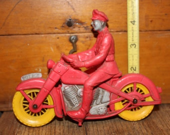 toy motorcycle with rider