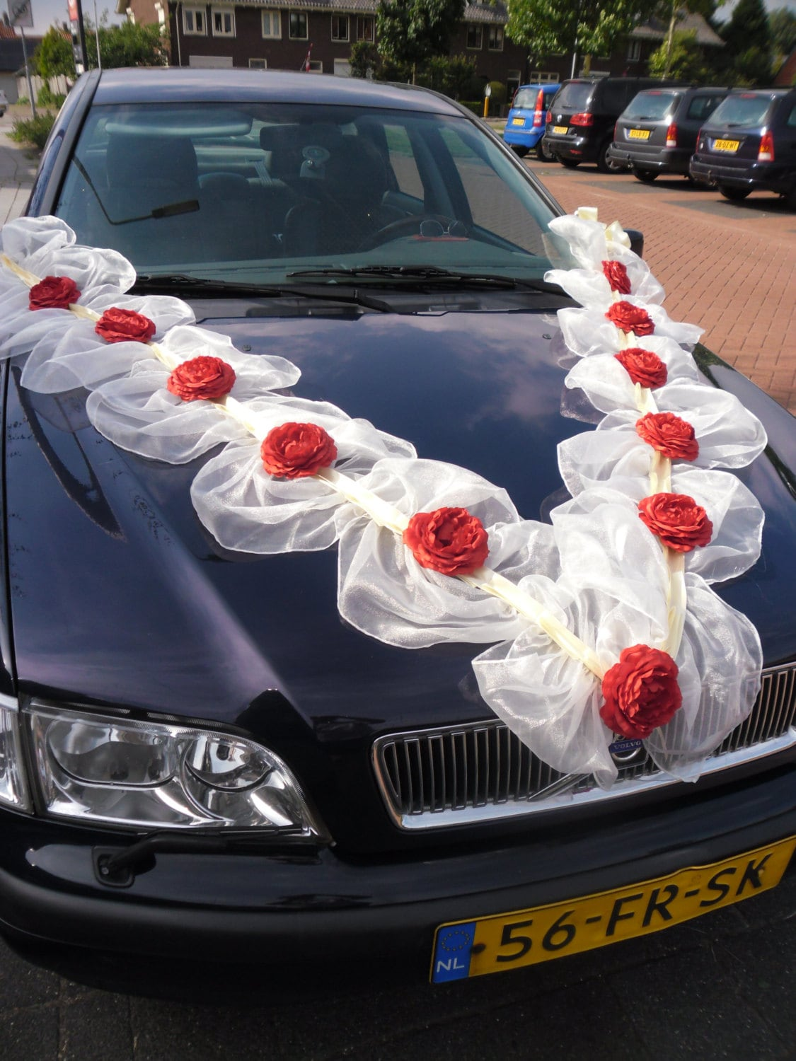 car decoration for wedding with ribbon images galleries with a bite. Black Bedroom Furniture Sets. Home Design Ideas