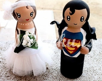 batman and batgirl wedding cake topper batman wedding cake topper etsy 11113