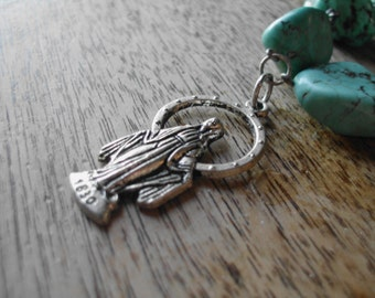 Mother Mary Turquoise Necklace
