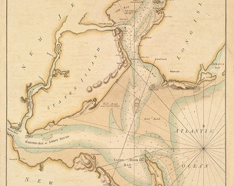 1776 Nautical Chart of The Hudson River