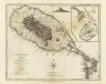 1775 Map of St. Kitts