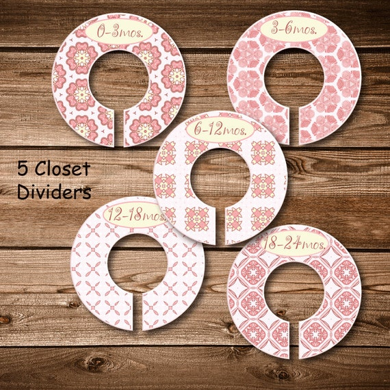 Baby closet dividers pink 39 n pretty by sweetfridayschild for Baby clothes size organizer
