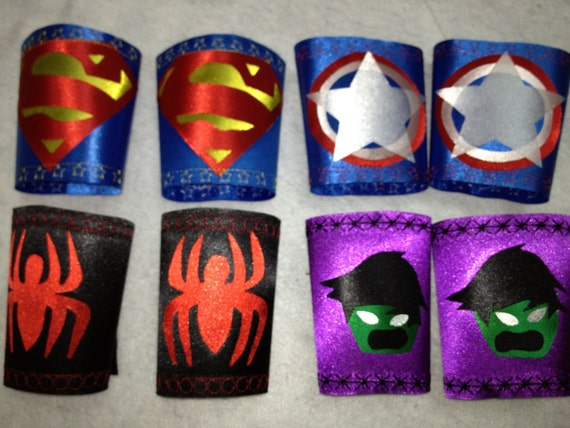 SUPERHERO Armbands ONLYAccessories for Superhero Capes Birthday Party Favors ad Gifts
