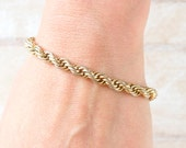 Golden Rope Bracelet - Eighties Twisted Elegance