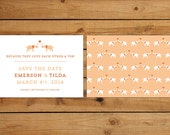 Wedding Save the Date Card - elephants, tons of love, clever wedding