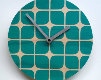 Objectify Retro Squares Wall Clock