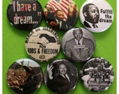 """8 Brand New 1"""" """"Martin Luther King Jr"""" Button Set"""