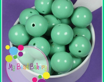 6 Pieces 24mm Mint Acrylic Beads DIY Crafts Chunky Necklaces and Bracelets Christmas Valentine