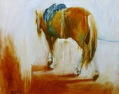 Lunge Horse Original Oil Painting