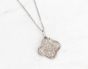 Saint Jude silver medallion necklace