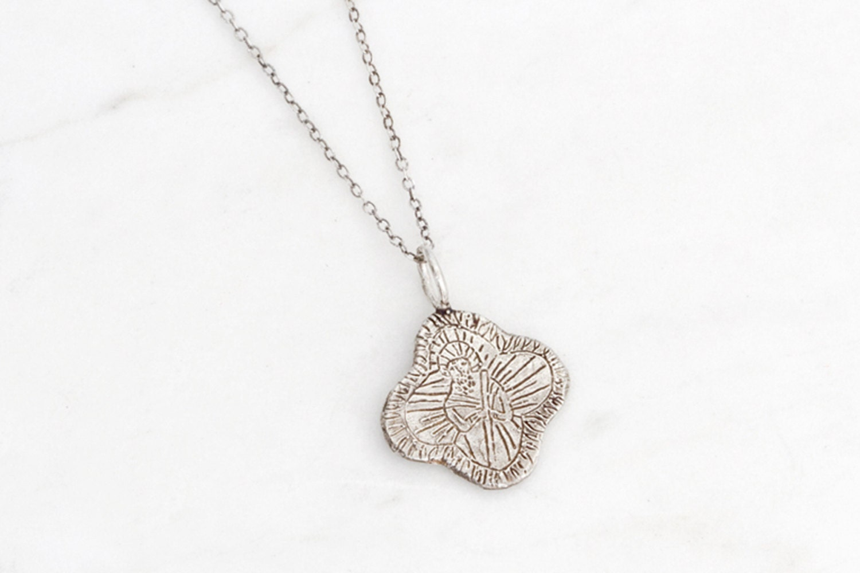 jude silver medallion necklace