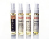 Breast, Uterine, Tummy Massage Oils & All Purpose Healing Oil SAMPLERS 4ml