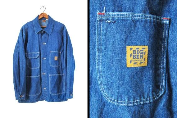 Vintage Wrangler Denim Chore Coat Big Ben Barn Jacket Made In