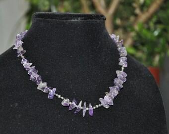 Purple Amethyst Sterling Silver Necklace