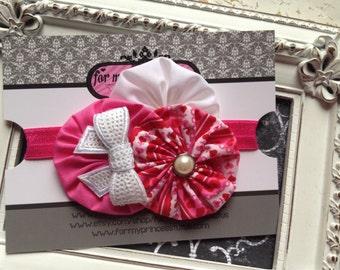 Valentine's Day Headband, Newborn headband, valentines hairpiece, valentines day headband, Custom Headband, baby girl headband, headband