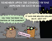 Cats, Diamond, Team Work, Million Dollars Tag and City Crime print