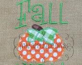 Happy Fall Ya'll Digital Embroidery Design Machine Applique