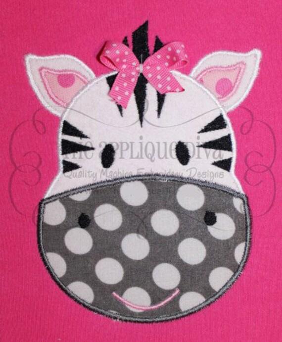 Zebra Embroidery Design Machine Applique