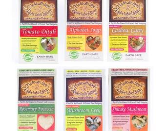 All Six Flavours - Artisan Magic Meals - Farmer's Market Sampler - DIY Kit Gift Set - DIY Mixes Kit Bread Mix Soup Mix Oven Dinner Mix Food