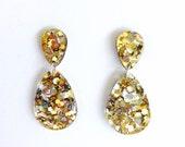 Double Drop Earrings - Lush Glitter