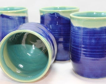 UnderSea Terrain Ceramic Wine Cup Stemless Goblet