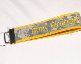 Army Girlfriend Key Fob In Yellow and ACU