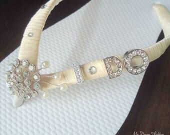 I Do Ivory Flip Flops. Bridal Ivory flip flops Swarovski Crystals bride flip flops.  -Other colors available- I DO Collection-Ivory-