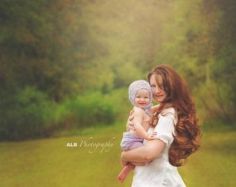 toddler girl light purple bonnet