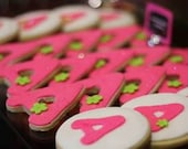 Cookies - Monogrammed  Square/Round Sugar Cookies -- 2.85 ea. Birthday/Baby Shower/ Wedding/Party Favors - Custom  with your initials/colors