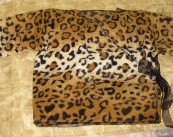 Animal Print Kimono Baby Jacket