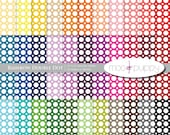 Digital Scrapbook Paper Pack  --  Rainbow Double Dot  -  INSTANT DOWNLOAD