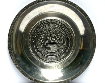 Pewter Wedding Plate from Germany