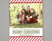 Christmas Card Photo - Traditional Stripes