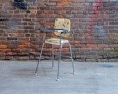 Item reserved for Sarah  Retro Animals Print High Chair